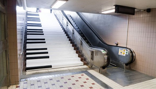 Escalier musical pitch